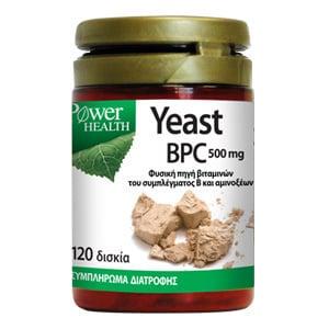 Power Health Yeast BPC 500mg Συμπλήρωμα Μαγιάς, 120 tabs