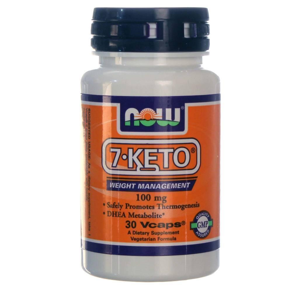 Now 7Keto 100mg Συμπλήρωμα Διατροφής για τον Έλεγχο Βάρους, 30 vcaps