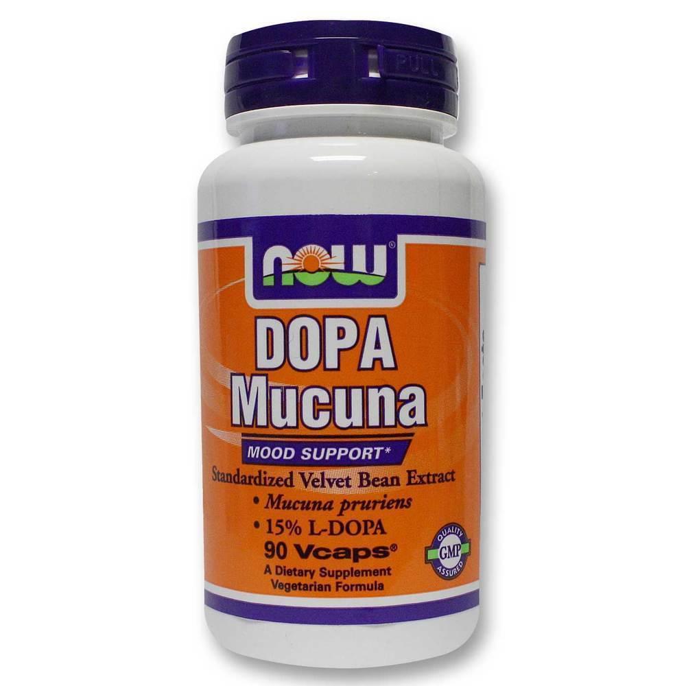 Now Dopa Mucuna Συμπλήρωμα Ντοπαμίνης, 90 vcaps