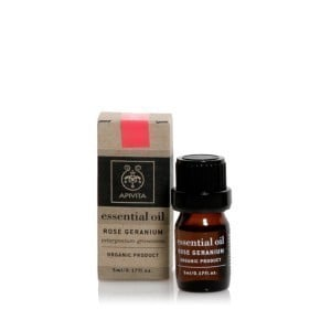 Apivita Essential Oil Geranium 100% Βιολογικό Αιθέριο Έλαιο Γεράνι, 5ml