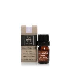 Apivita Essential Oil Thyme 100% Βιολογικό Αιθέριο 'Ελαιο Θυμάρι, 5ml