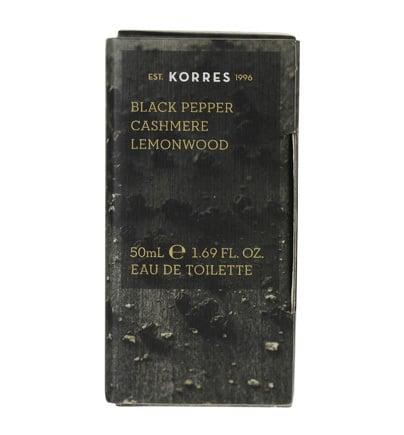 Korres Eau de Toilette Black Pepper, Cashmere & Lemonwood Ανδρικό Άρωμα, 50 ml