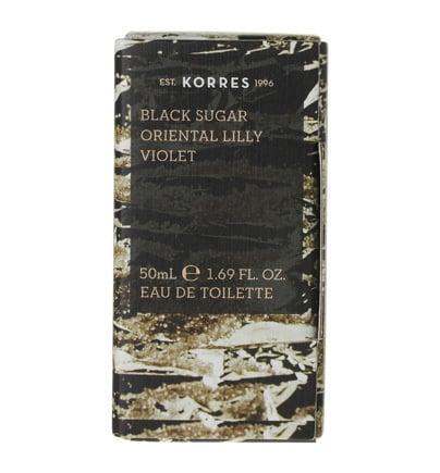 Korres Eau de Toilette Black Sugar, Oriental Lily & Violet for Women, 50 ml