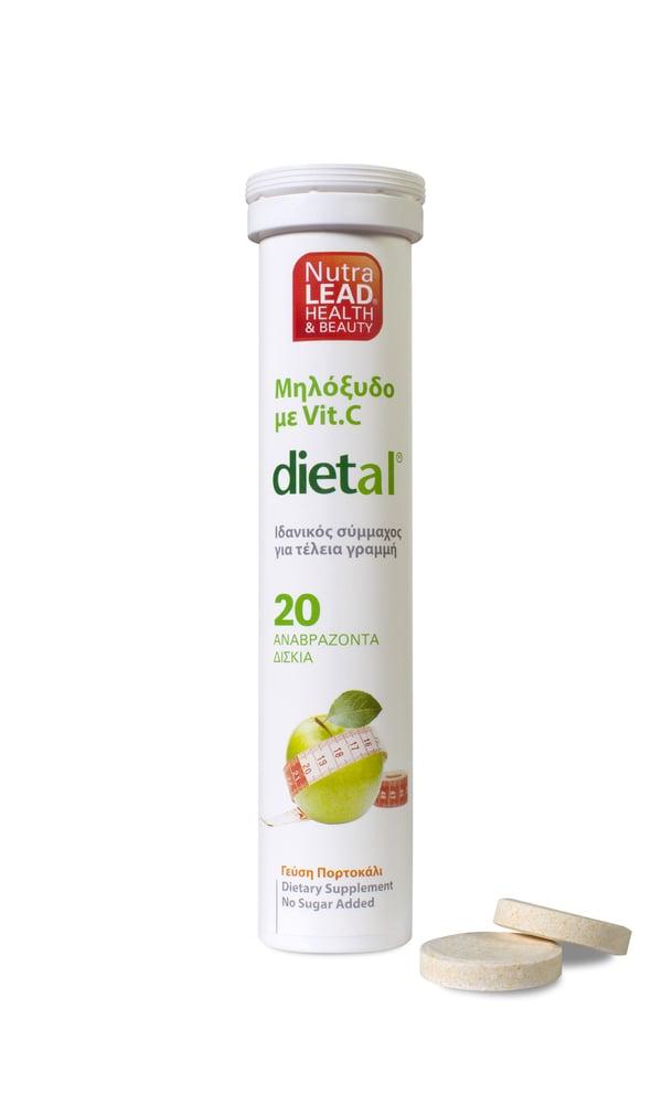 Nutralead Dietal Μηλόξυδο με Βιταμίνη C ,20 αναβρ. δισκία