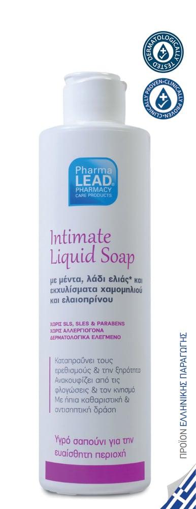 Pharmalead Intimate Liquid Soap Υγρό Σαπούνι Καθαρισμού για την ευαίσθητη περιοχή με Μέντα ,Ελιά & Εκχύλισμα Χαμομηλιού ,250ml