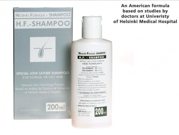 H & B Helsinki Formula [H.F.] Shampoo Σαμπουάν κατά της Τριχόπτωσης, για Κανονικά & Λιπαρά Μαλλιά, 200 ml