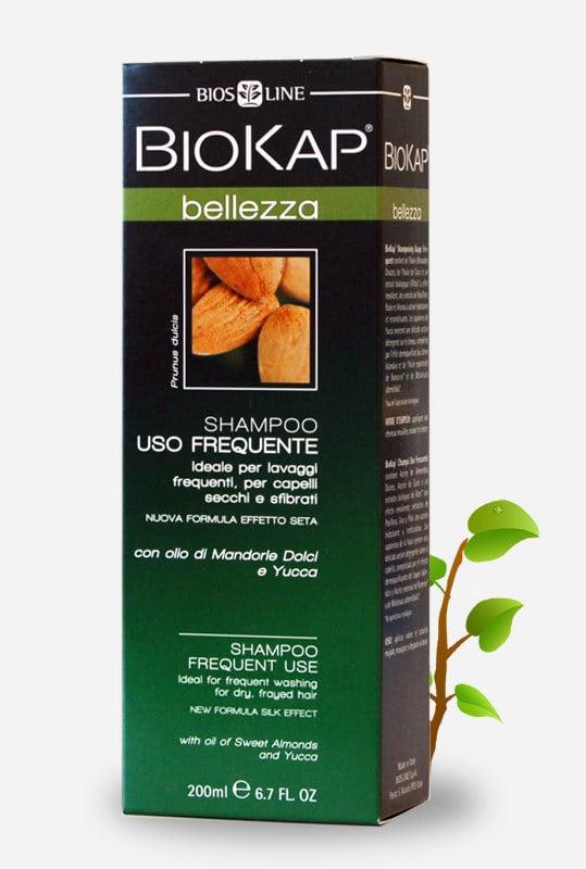Biokap Shampoo Uso Freguente Σαμπουάν Καθημερινής Χρήσης για την Αντιμετώπιση της Τριχόπτωσης, για Ξηρά & Ταλαιπωρημένα Μαλλιά, 200ml