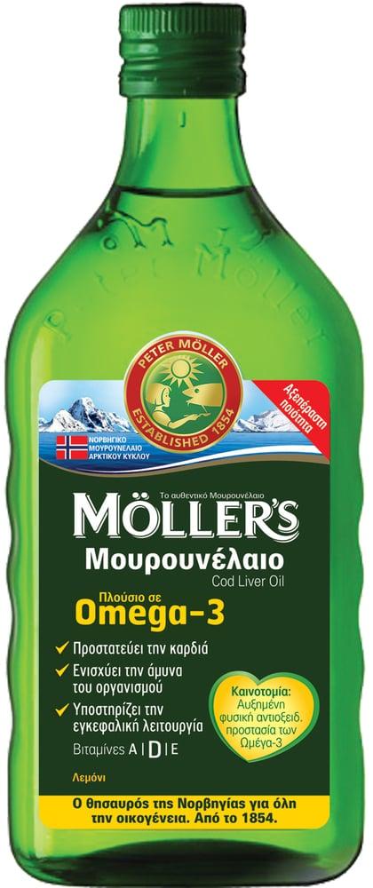 Moller's Μουρουνέλαιο Lemon Παραδοσιακό Μουρουνέλαιο σε Υγρή Μορφή με Γεύση Λεμόνι, 250ml
