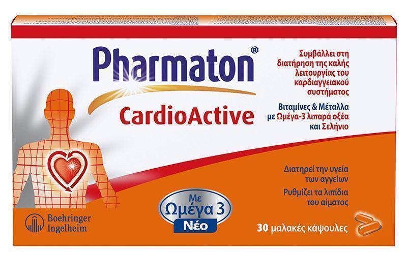 Sanofi Pharmaton CardioActive Συμπλήρωμα Διατροφής για την Καλή Καρδιαγγειακή Υγεία, 30caps