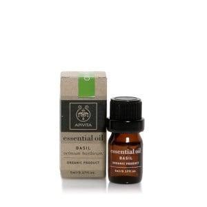 Apivita Essential Oil Basil 100% Βιολογικό Αιθέριο Ελαιο Βασιλικού, 5ml