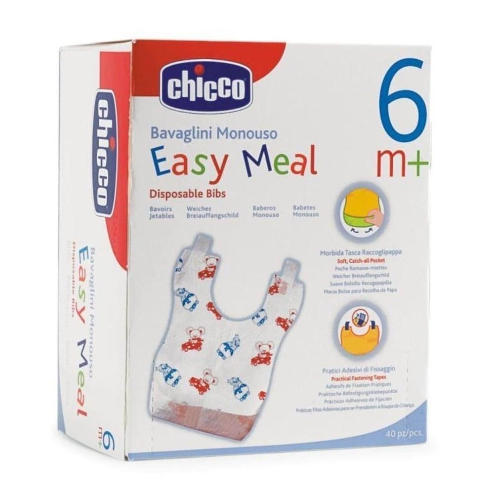 Chicco Easy Meal Τραχηλιά μίας Χρήσης, 40 τεμάχια