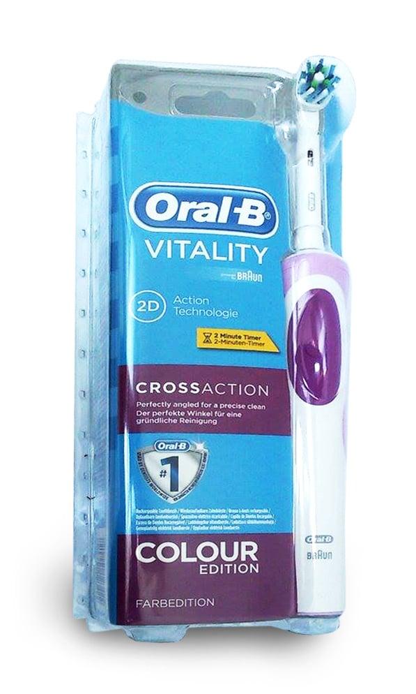 Oral B Vitality 2D Cross Action Colour Edition Ηλεκτρική Οδοντόβουρτσα σε Ροζ Χρώμα, 1 τεμάχιο