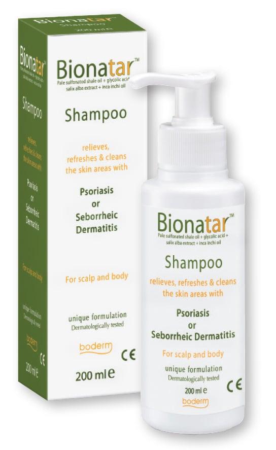 Boderm Bionatar Shampoo Σαμπουάν για την Ανακούφιση των Συμπτωμάτων της Ψωρίασης & της Σμηγματορροϊκής Δερματίδας, 200ml