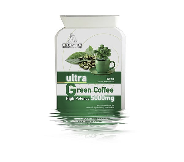 Healthia Ultra Green Coffee 5000mg High Potency Συμπλήρωμα Πράσινου Καφέ, 90 caps