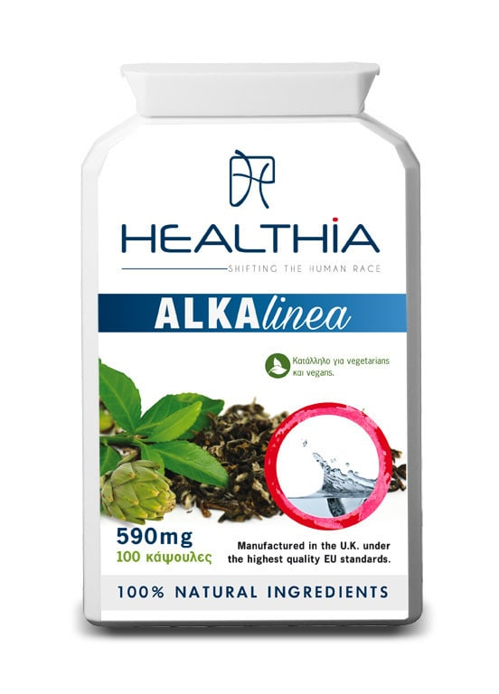 Healthia Alkalinea Οργανική Φόρμουλα Αλκαλοποίησης & Αποτοξίνωσης του Οργανισμού, 100 caps