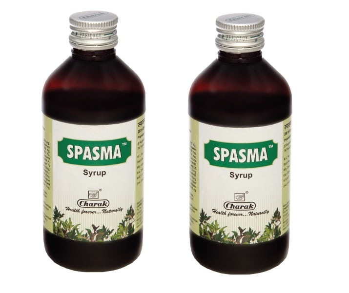 2 x Charak Spasma Syrup Βρογχοδιασταλτικό, Βλεννολυτικό & Αποχρεμπτικό Σιρόπι, 2 x 200ml