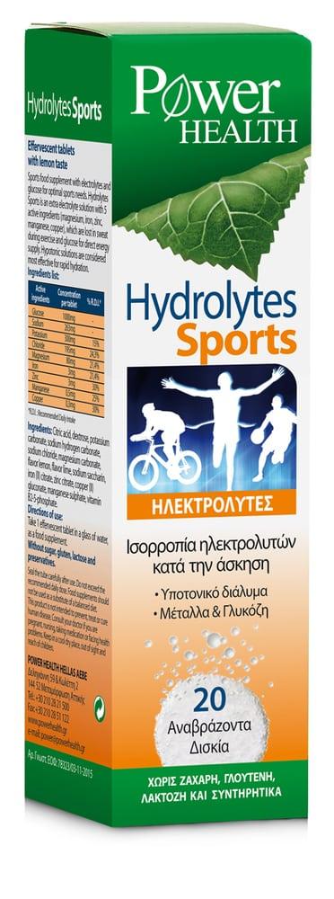 Power Health Hydrolytes Sports Αναβράζων Συμπλήρωμα Διατροφής με Ηλεκτρολύτες , 20 eff. tabs