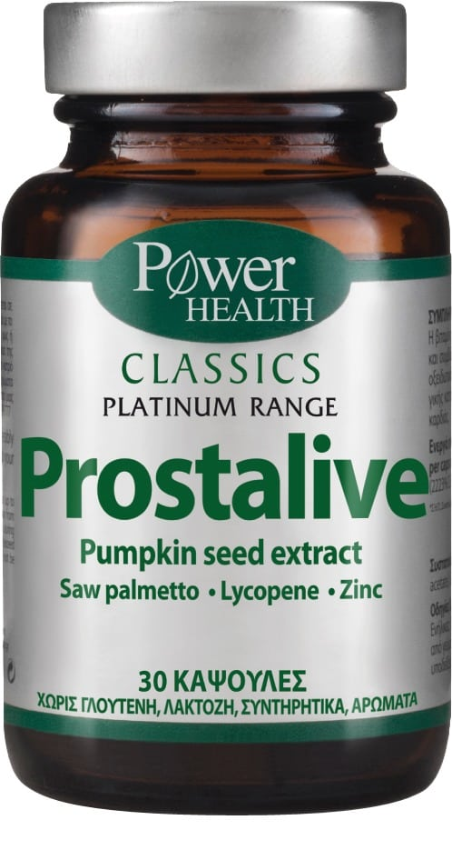 Power Health Classics Platinum Prostalive Συμπλήρωμα Διατροφής για την Καλή Υγεία του Προστάτη, 30 caps