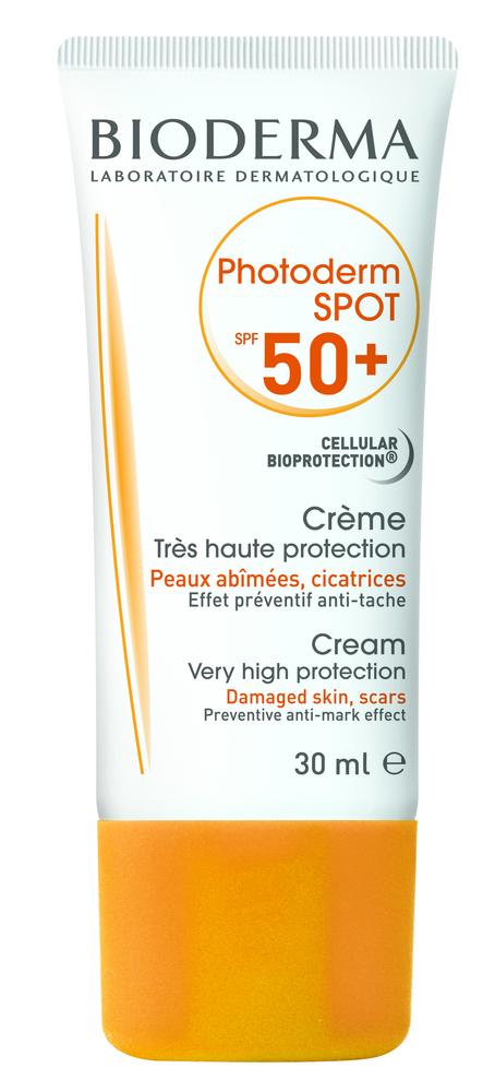 Bioderma Photoderm Spot SPF50+ Αντηλιακή Κρέμα Προσώπου Υψηλής Προστασίας για Δέρμα με Κίνδυνο Υπερμελάγχρωσης (Καφέ Κηλίδες,Πανάδες), 30ml