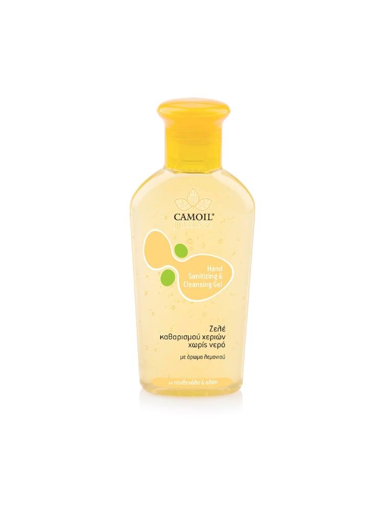 Camoil Johnz Hand Sanitizing & Cleansing Gel Ζελέ Καθαρισμού Χεριών χωρίς Νερό, με άρωμα Λεμόνι, 80 ml