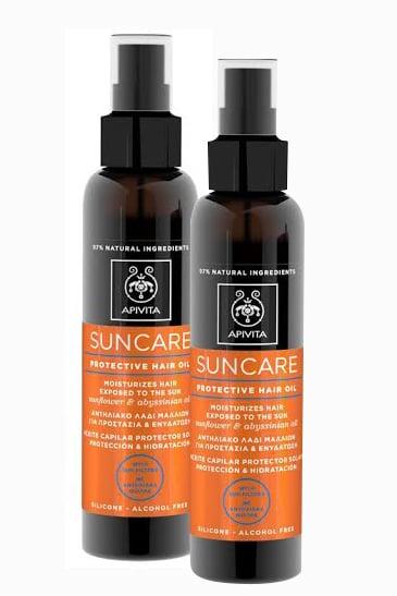 2 x Apivita Suncare Protective Hair Oil Αντιηλιακό Λάδι Μαλλιών για προστασία & ενυδάτωση, 2 x 150ml