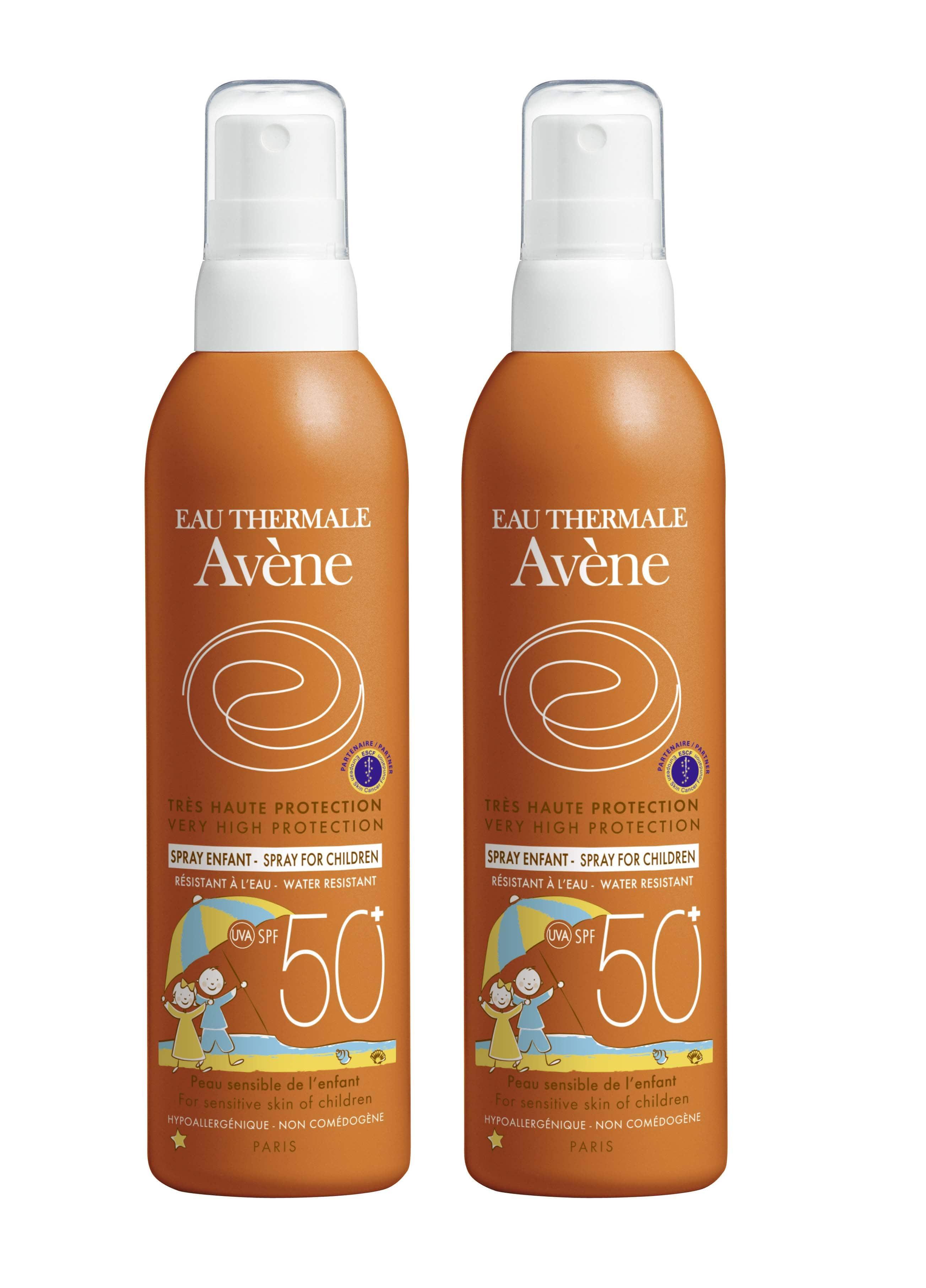 2 x Avene Eau Thermale Spray Enfant SPF50+ Αντιηλιακό παιδικό Σπρέι για Παιδιά, 2 x 200ml