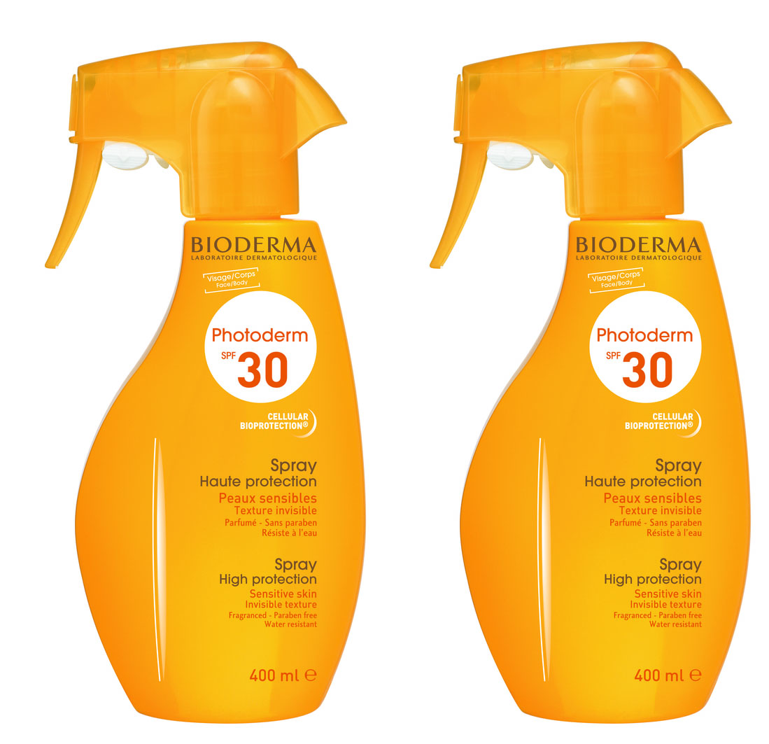 2 x Bioderma Photoderm Spray SPF30 Αντηλιακό Σπρέι Υψηλής Φωτοπροστασίας που διεγείρει το Σύστημα Αυτοάμυνας του Δέρματος, 2 x 400ml
