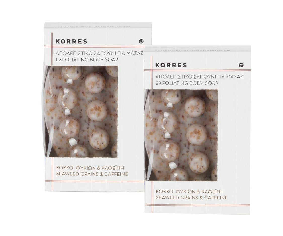 2x Korres Exfoliating Body Soap, 2x 125 gr
