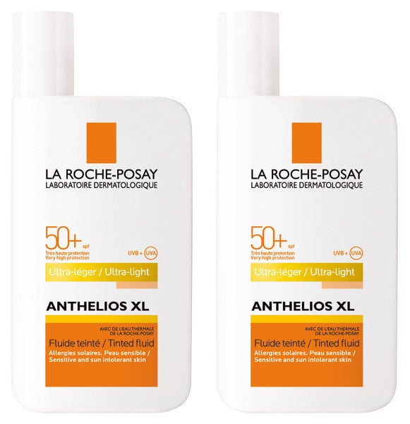 2 x La Roche Posay Anthelios XL Tinted Fluide SPF50+ Λεπτόρρευστη Αντηλιακή Κρέμα Προσώπου με Χρώμα, 2 x 50ml