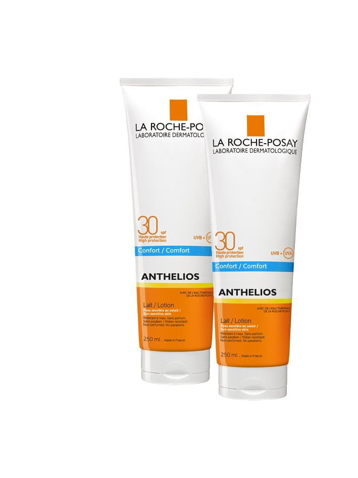 2 x La Roche Posay Anthelios Lait SPF30 Γαλάκτωμα υψηλής αντηλιακής προστασίας, 2 x 250ml