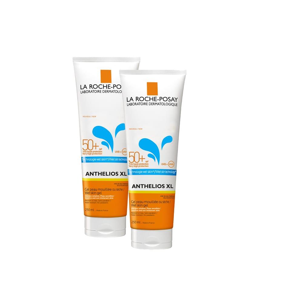 2 x La Roche Posay Anthelios XL Wet Skin Gel SPF50+ Αντιηλιακό Τζελ για στεγνό ή βρεγμένο δέρμα, 2 x 250ml