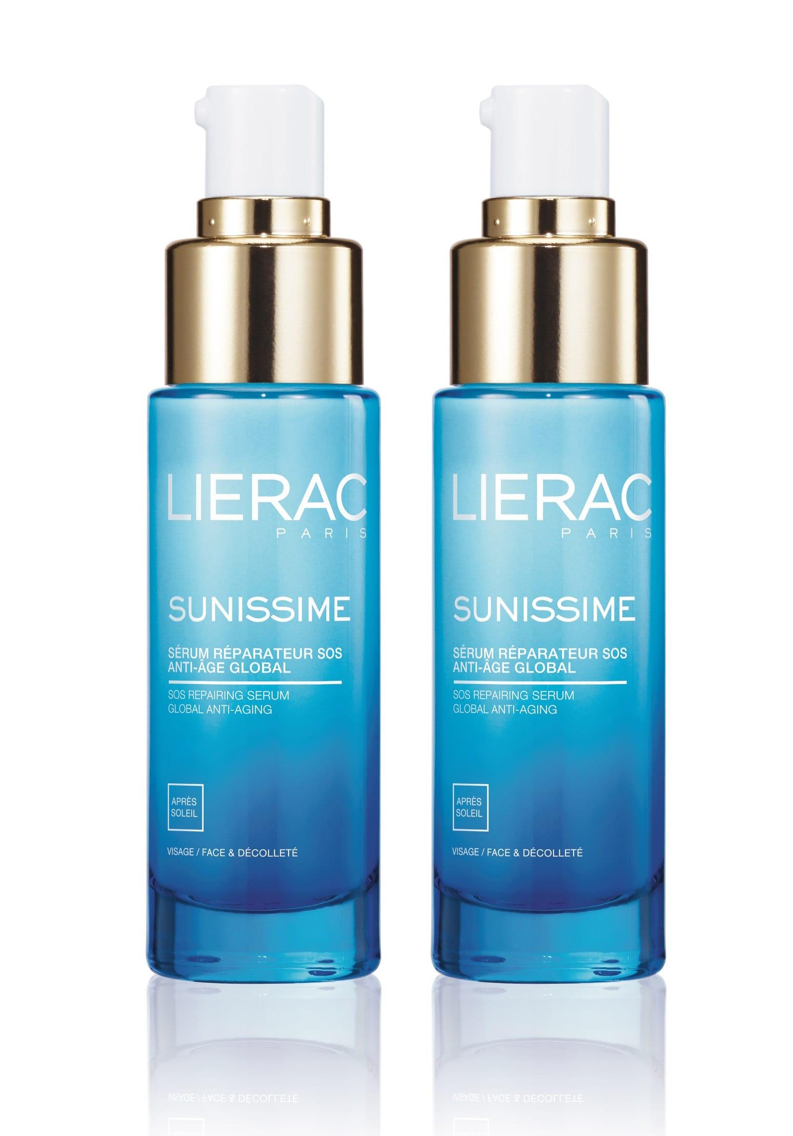 2 x Lierac Sunissime Serum Reparateur SOS Anti-Age Global Ορός Άμεσης Ανανέωσης & Ολικής Αντιγήρανσης για μετά τον ήλιο, για το πρόσωπο & το ντεκολτέ, 2 x 30ml