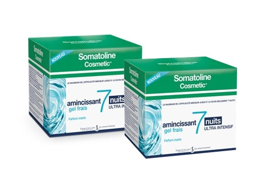 2x Somatoline Cosmetic Amincissant 7 Nuits Ultra Intensif Gel Frais, 2x 400ml