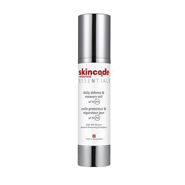 Skincode Essentials Daily Defense & Recovery Veil SPF30 Ενυδατική Κρέμα Προσώπου για Ματ Αποτέλεσμα με Αντηλιακή Προστασία, 50ml