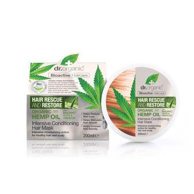 Dr. Organic Organic Hemp Oil Intensive Conditioning Hair Mask Εντατική Μάσκα Μαλλιών για την Ενυδάτωση & Ενδυνάμωση της Τρίχας, 200ml