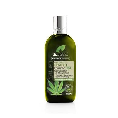 Dr. Organic Organic Hemp Oil Shampoo & Conditioner Σαμπουάν & Μαλακτική Κρέμα Μαλλιών με Έλαιο Κάνναβης, 265ml