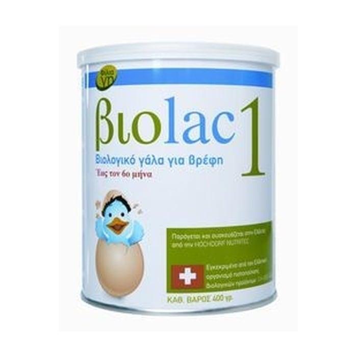 Biolac 1 Βιολογικό Γάλα 1ης Βρεφικής Ηλικίας έως τον 6ο Μήνα, 400gr