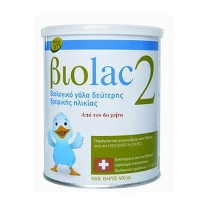 Biolac 2 Βιολογικό Γάλα 2ης Βρεφικής Ηλικίας από τον 6ο Μήνα, 400gr