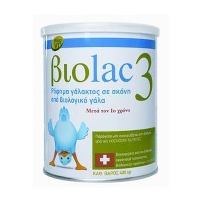 Biolac 3 Βιολογικό Γάλα για Νήπια μετά το 1ο Έτος, 400gr