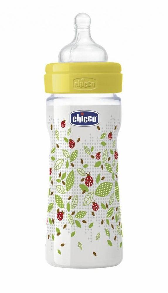 Chicco Well Being Μπιμπερό 2m+ Ρυθμιζόμενης Ροής, με Θηλή Σιλικόνης, 250ml