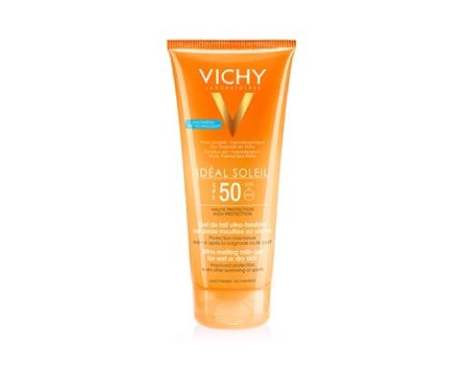 Vichy Ideal Soleil SPF50 Έξτρα Απαλό Αντηλιακό Γαλάκτωμα - Gel για την Προστασία της Νωπής ή Στεγνής Επιδερμίδας, για Προσώπο & Σώμα, 200 ml