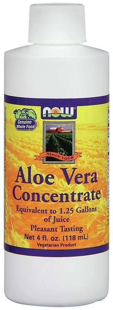 Now Aloe Vera Concentrate Φυσικός Συμπυκνωμένος Χυμός Αλόης, 118ml