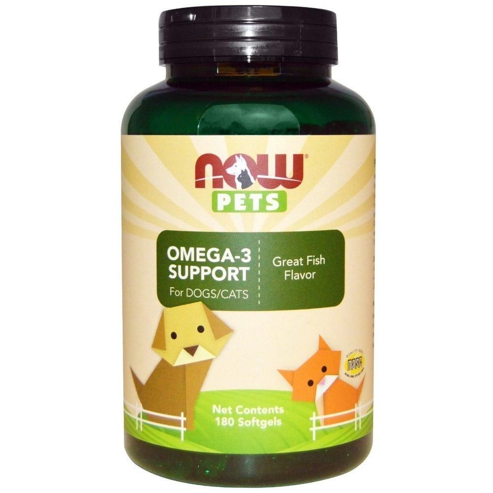 Now Pets Omega 3 Support Συμπλήρωμα Ωμέγα 3 Λιπαρών Οξέων για Σκύλους & Γάτες, 180 softgels