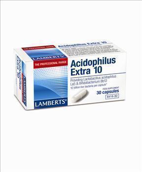 LAMBERTS ACIDOPHILUS EXTRA10 (MILK FREE),30 caps