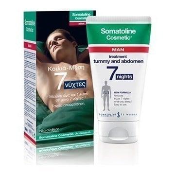 Somatoline Cosmetic Man Αγωγή Κοιλιά – Μέση 7 Νύχτες Εντατική Ανδρική Αγωγή σε 7 Νύχτες για τη Μείωση του Λίπους σε Κοιλιά & Μέση, 150ml