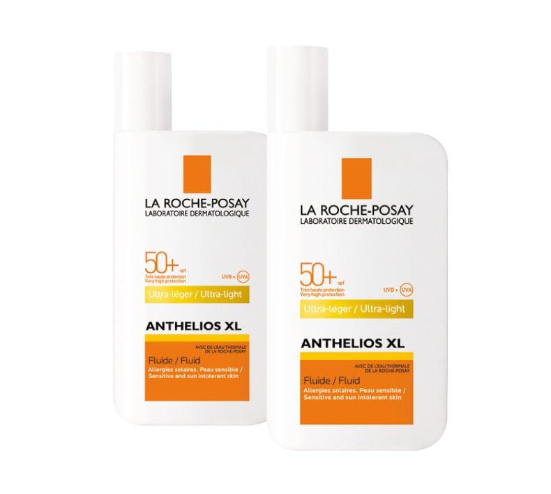 2 x La Roche Posay Anthelios XL Fluide SPF50+ Λεπτόρρευστη Αντηλιακή Κρέμα Προσώπου με Άρωμα, 2 x 50ml