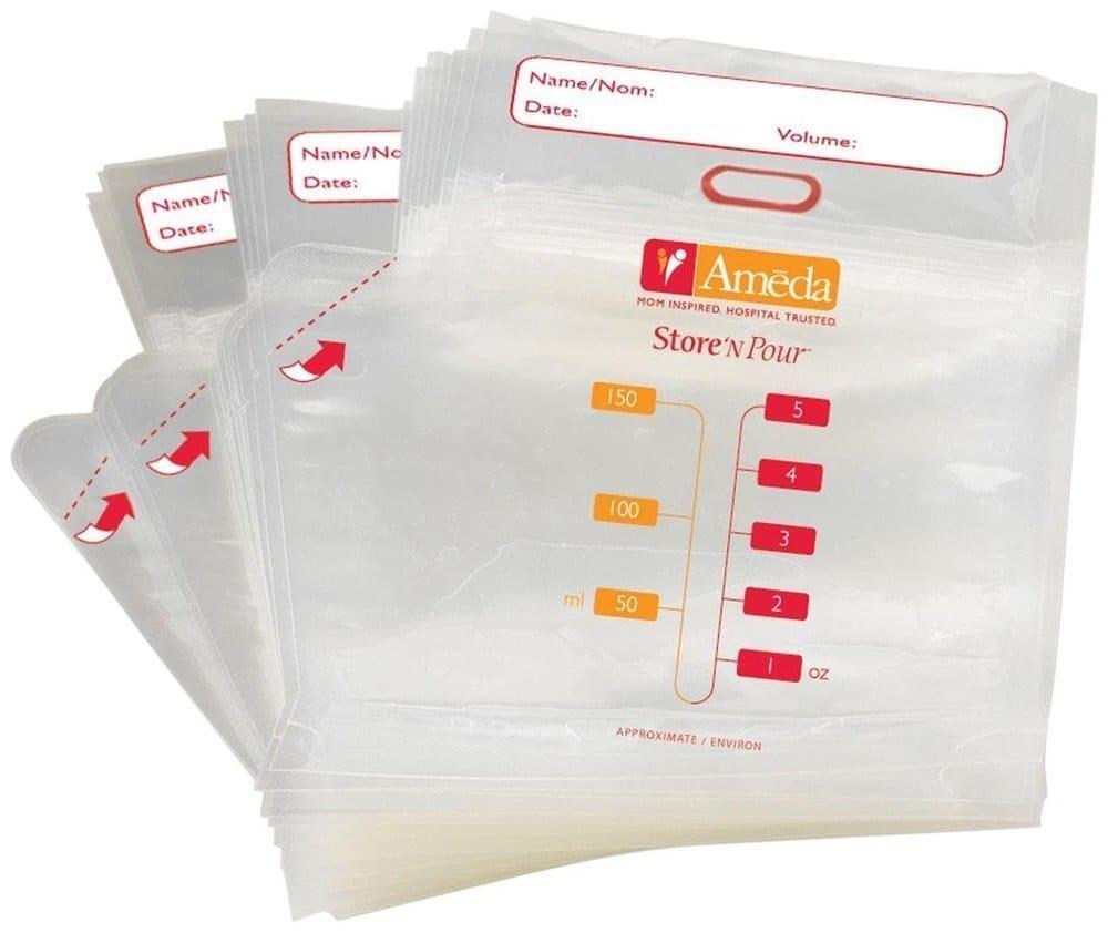Ameda Store 'N Pour Breast Milk Bags Σακουλάκια Φύλαξης Μητρικού Γάλακτος, 40 τεμάχια