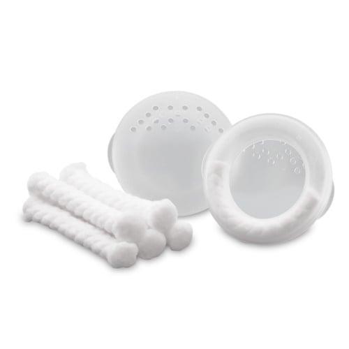 Ameda Nipple Protector Breast Shell System Προστατευτικά Θηλών, περιέχει 2 Περιβλήματα Στήθους, 2 Προστατευτικά & 6 Απορροφητικά Ρολά Βαμβακιού