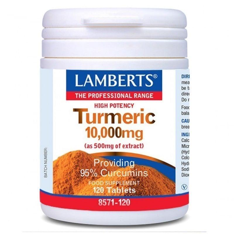 Lamberts Turmeric 10.000mg Συμπλήρωμα Διατροφής με Κουρκουμά, 120 tabs