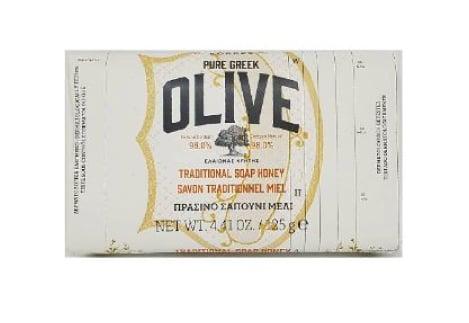 Korres Pure Greek Olive Tradional Soap Honey Παραδοσιακό Πράσινο Σαπούνι με Άρωμα Μέλι, 125gr